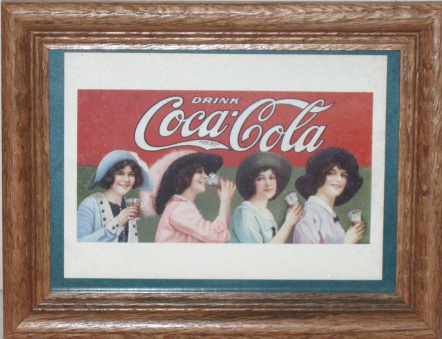 4 Ladies Drinking Coca Cola Wooden Frame-FREE SHIPPING Bonanza