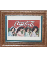 4 Ladies Drinking Coca Cola Wooden Frame-FREE SHIPPING - $31.95