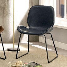FRANZ CONTEMPORARY STYLE DARK GRAY CHAIR - $325.00
