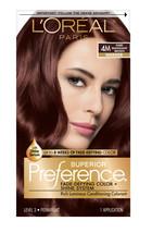 L'oreal Paris Superior Preference Hair Color, 4M Dark Mahogany Brown - $17.95