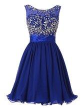 Short Beading 2018 Homecoming Party Dresses V-Back Short Prom Dresses fo... - $122.00