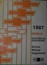 1987 Chevy Chevrolet Sprint Elektrisch Truck Service Shop Reparatur Manuell - $9.80
