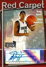 2004-05 Topps Luxury Box Red Carpet Autographs #DEH Devin Harris/135 - $8.95