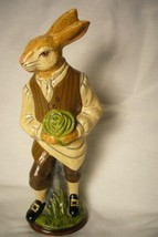 Vaillancourt Folk Art, Colonial Male Rabbit Gardener signed by Judi image 1