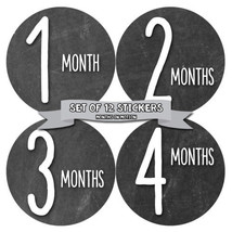 MONTHS IN MOTION Monthly Baby Stickers Infant UNISEX Month Milestone Pho... - $10.95