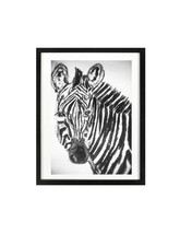 Zebra Charcoal original drawing home decor nursery zebra art kid bedroom... - $39.90