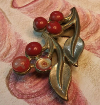 "Vintage Jewelry: 2"" Dress Clip Cherries  10-10-2018 - $7.91"