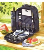 Backpack Picnic Set with Utensils Plates Glasses  - $55.00