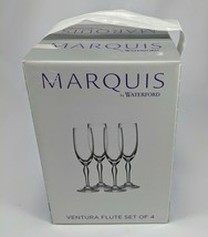 Waterford Flute Set Marquis by Waterford Ventura Flute Set of 4 New in Box - $23.36