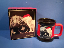 Kittens With Goldfish Santa Hat Snowflakes Mug Cup Keith Kimberlin Gift... - $14.99