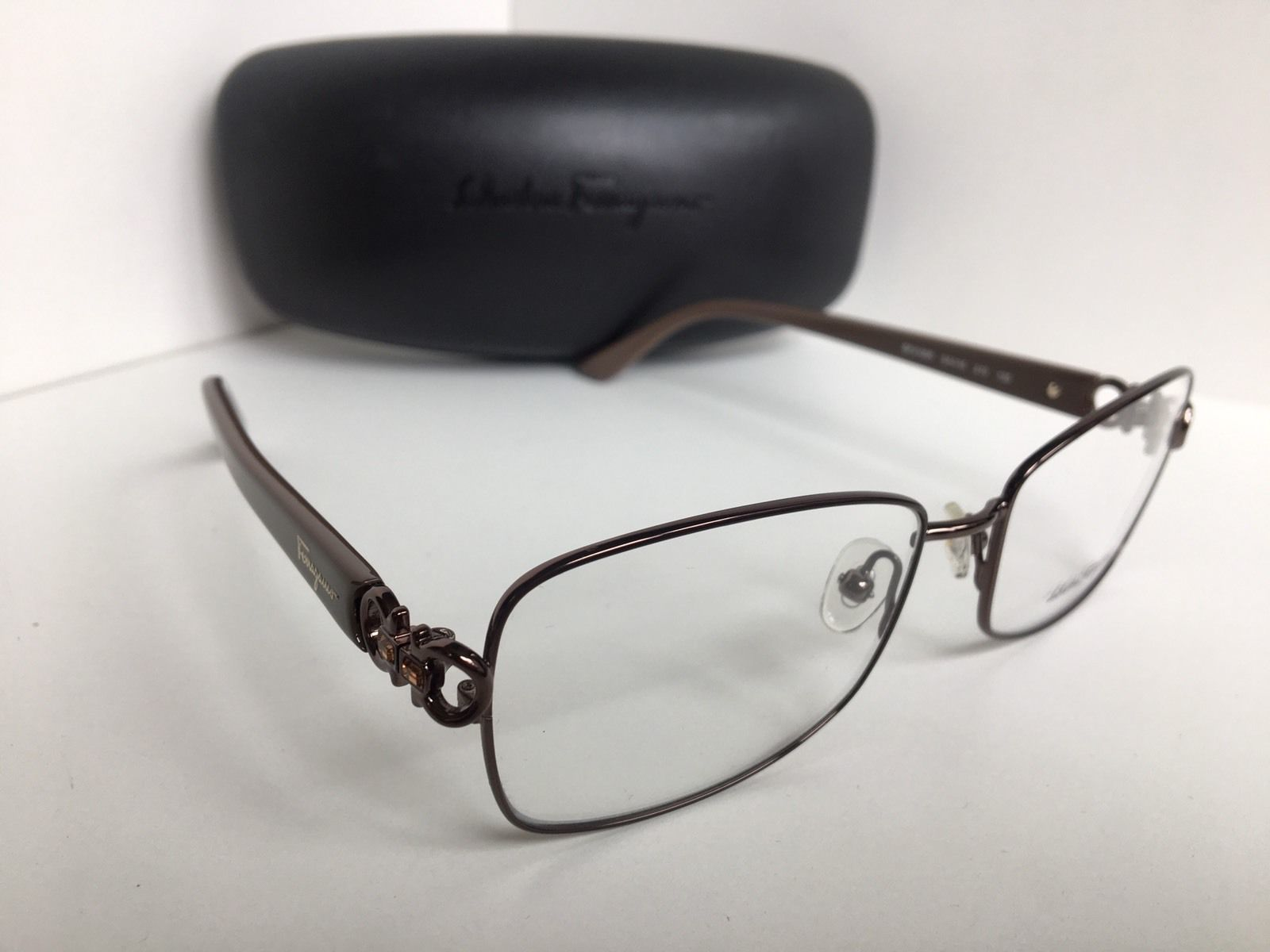 3ea07b79b5 New Salvatore Ferragamo SF 2105R SF2105R 210 54mm Shiny Brown Eyeglasses