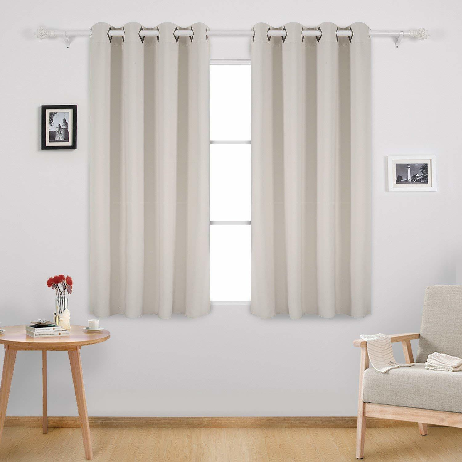 Deconovo Grommet Top Window Curtain Soft Fabric Embossed Triangle