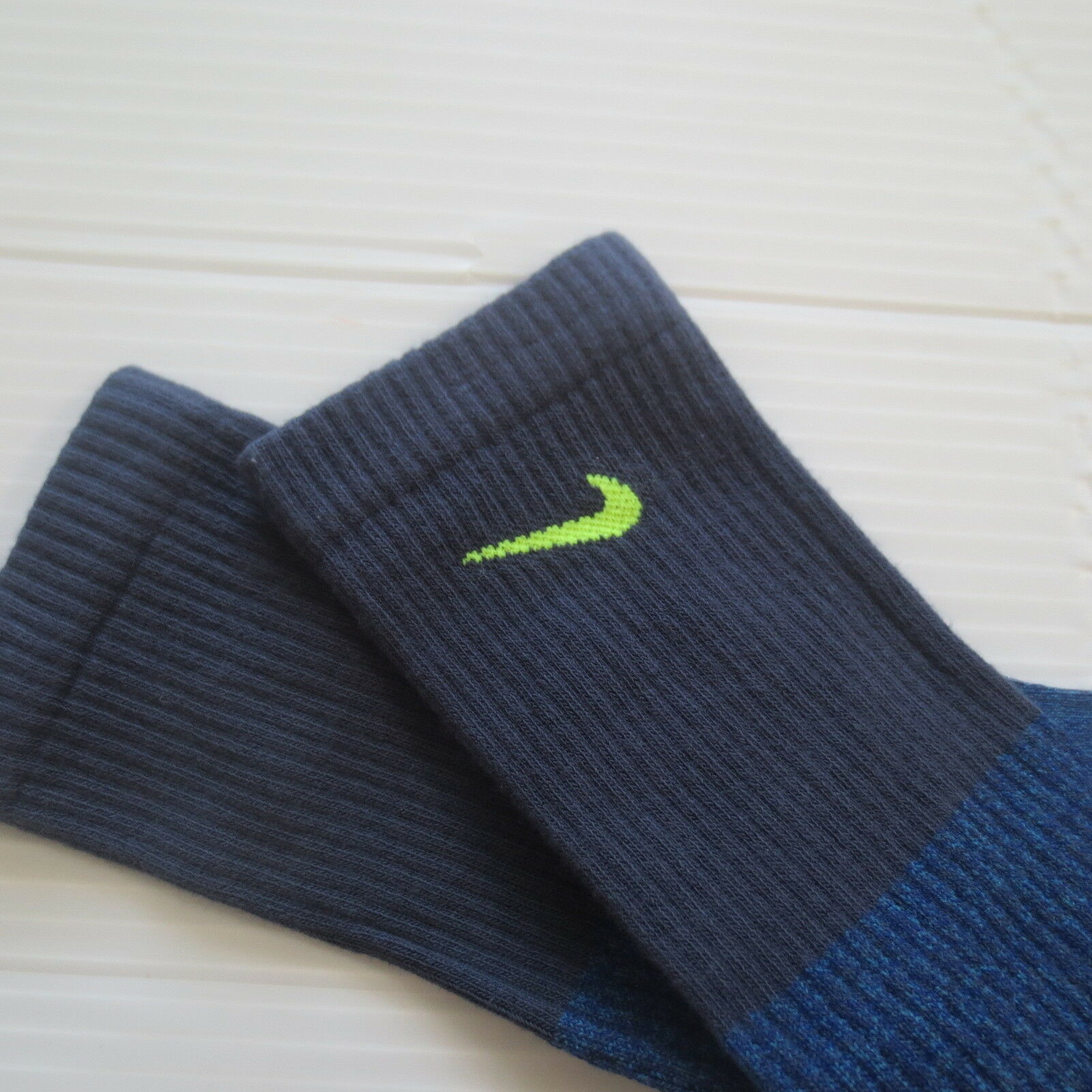 Nike Youth Cushioned Crew Socks - SX6840 - Blue Purple - Size M - NEW