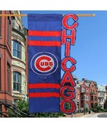 Chicago Cubs Baseball 28'' x 44'' Sculpted House Flag Banner NEW FREE SHIP - $26.72