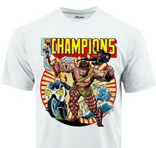 The Champions Dri Fit graphic T-shirt moisture wick superhero comic Sun Shirt image 1