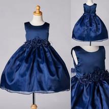 Christmas Pageant Recital Velvet Toddler Girl Wedding Infant Christmas Dress #32