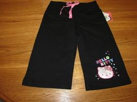 Ragazze Hello Kitty HK55152 Active Pantaloni 4 Nero Nwt ^^ - $8.35