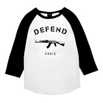 NEW DEFEND PARIS MEN'S PREMIUM COTTON CREW NECK RAGLAN BASEBALL TEE SHIRT SS1508