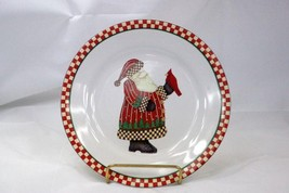 Sakura 1998 Magic Of Santa Dessert Plate Santa Holding His Toy Sack - $3.46