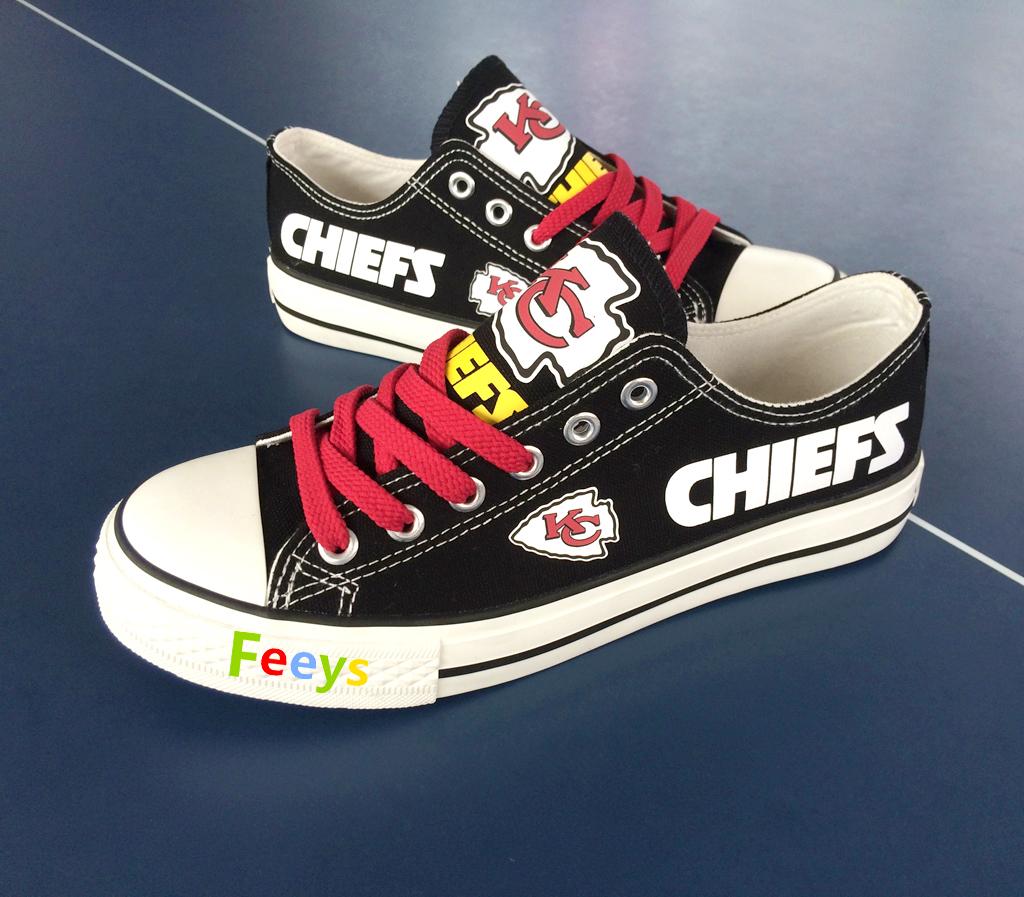 5593c7e1266e kc chiefs shoe women converse style chiefs sneakers Kansas city fans gift  black