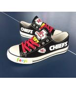 kc chiefs shoe women converse style chiefs sneakers Kansas city fans gif... - $59.99