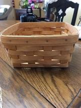 """Vintage Longaberger Basket Handwoven Signed #d 7""""x7""""x3.5"""" 1996 - $29.99"""