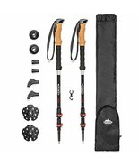 Cascade Mountain Tech 3K Carbon Fiber Trekking Poles Ultralight with Cor... - £58.67 GBP