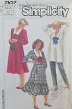 Simplicity 7107 Sz 12-16 Vintage Maternity 1980s Dress Top Pants uncut - $5.50