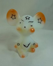 Fenton 3 Inch Opal Satin Airbrushed/Sand Carved W/Stars & Bats Halloween... - $46.74