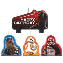 "Star Wars ""The Force Awakens"" VII 4 Pc Birthday Candles Cake Topper Set ... - $5.41"