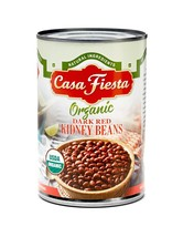 Casa Fiesta Organic Dark Red Kidney Beans 15oz 12 pack - $27.28