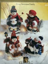 Grandeur Noel Skiing Snowman Family Figurines Winter Holiday Decoration - $64.34