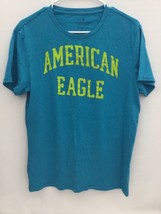 American Eagle Outfitters Mens Short Sleeve Blue Green Shirt SZ M(PRE-OWNED) - $3.99