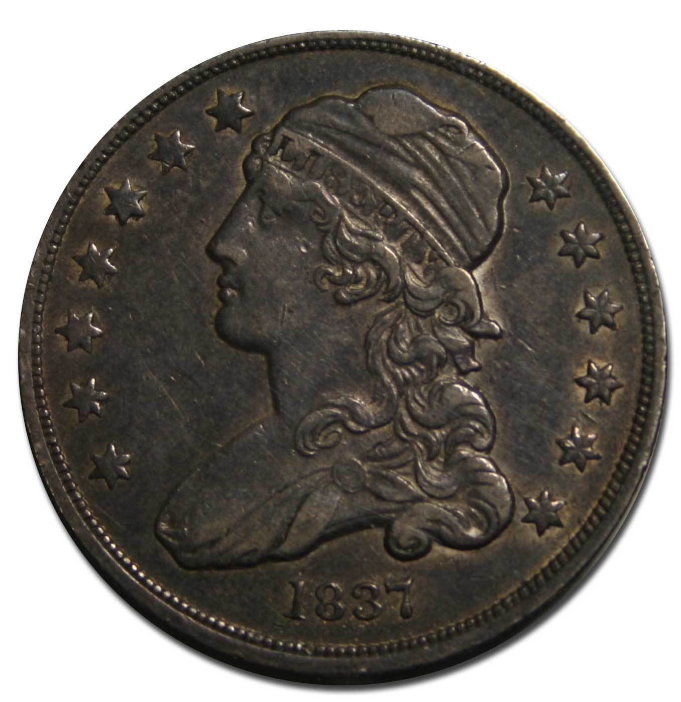 1837 Capped Bust Quarter Dollar 25¢ Coin Lot# MZ 4590