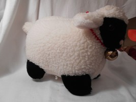 "Mary Meyer Plush Fluffy Lamb Sheep WHite & Black 14"" Lgth 8.25"" tall CUTE image 2"