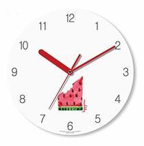 Happy Virus 1151 Bitten Piece of Watermelon MDF Non-Ticking Silent Quartz Decora