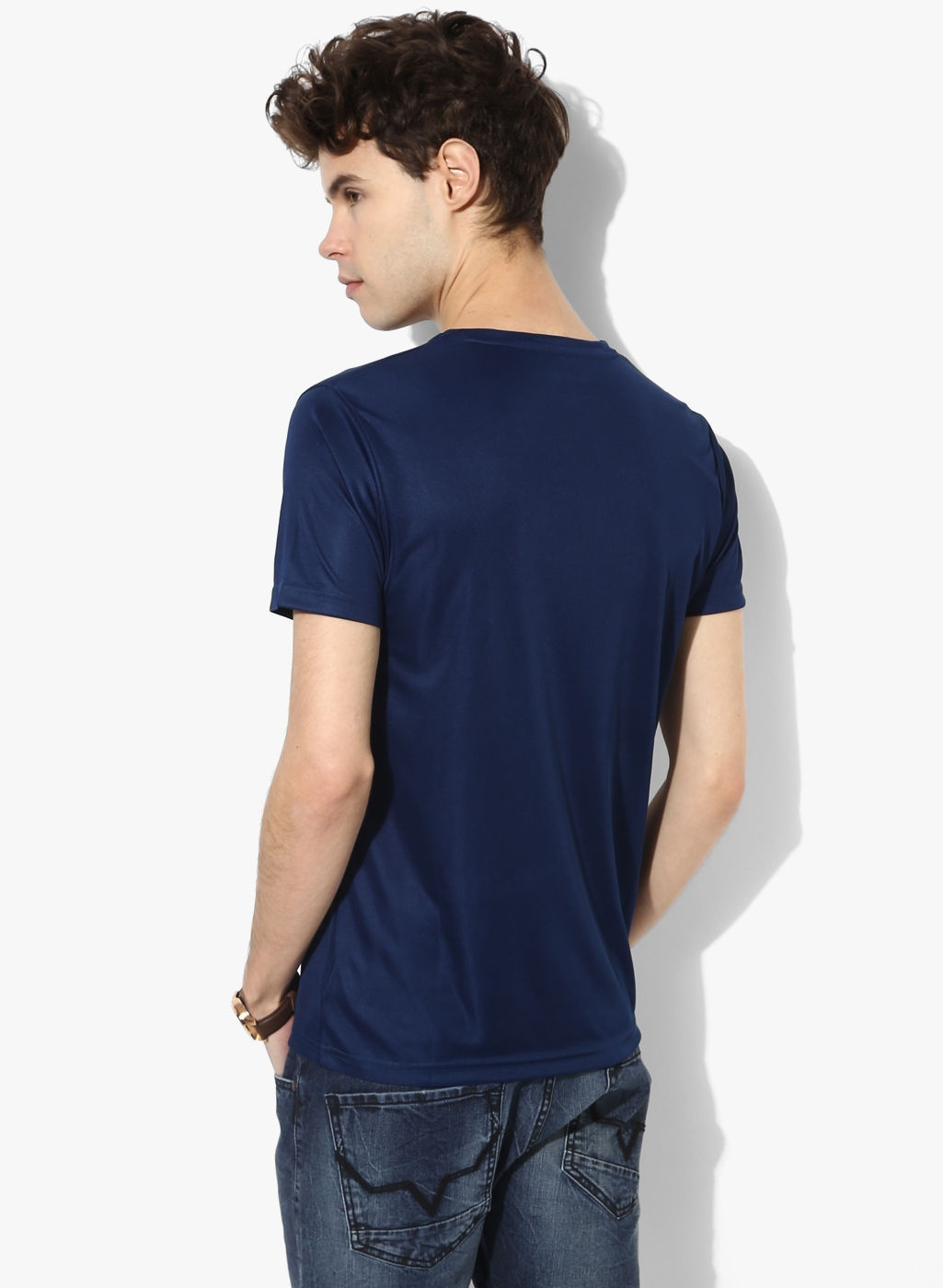 Nwt Jeans Men's Navy Pepe Graphic Slim Fit Round Neck Polycotton T-shirt Men Cot image 3