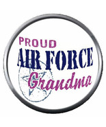 USAF Proud Air Force Grandma US Military Troops 18MM - 20MM Snap Jewelry... - $5.95