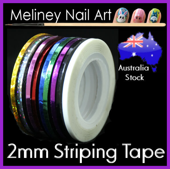 2mm Striping tape Nail Art Lines Manicure Stickers decoration Dispenser Tool