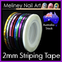 2mm Striping tape Nail Art Lines Manicure Stickers decoration Dispenser ... - $2.48+