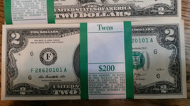 ✯RARE✯ NEW Uncirculated Consecutive Two Dollar Bills Crisp $2 Note 2013  - $3.88