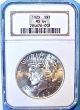 1923 NGC Peace Silver Dollar. MS64. MG7. - $49.00