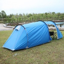 Outdoor Tent  Waterproof Double Layer Tunnel Tent 1 Bedroom and 1 Living... - $161.86