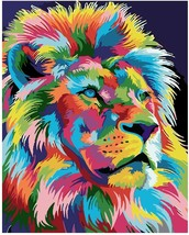 Paint by Numbers Kit for Kids and Adults Canvas Pigment Included Lion 16... - $14.82