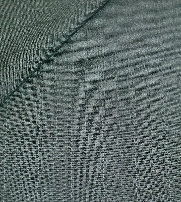 Vintage 130'S Italian Wool suit fabric  Black Stripes 5 Yards  free shippingbu k
