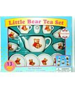 New Little Bear Tea Set Box Child's Play 13 Piece - $16.71