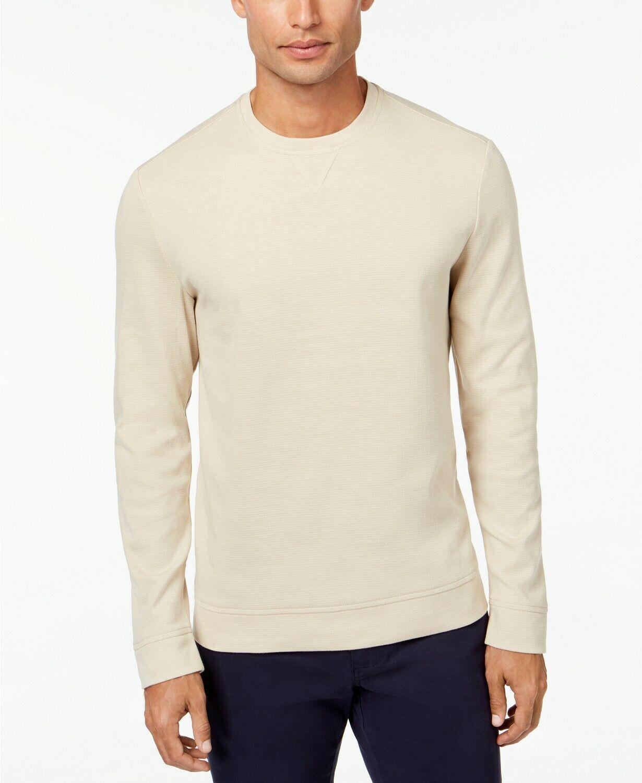Tasso Elba Men's Crewneck Sweater, Birch Tree, Size S, MSRP $55 - $17.81