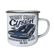 West Coast Custom Car American Muscle Cars Ret Retro,Tin, Enamel 10oz Mu... - $13.13