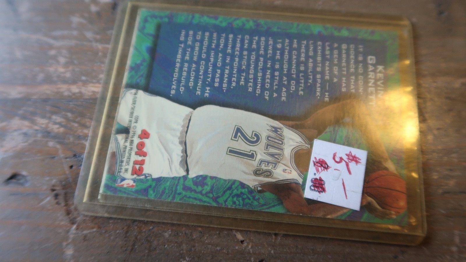 """KEVIN GARNETT 1995/1996 FLEER METAL """" TEMPERED STEEL """" ROOKIE Card #4 of 12 image 3"""