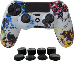 PS4 Controller Cover Silicone Gel Protector Skin Soft case Kits for Sony... - $10.18
